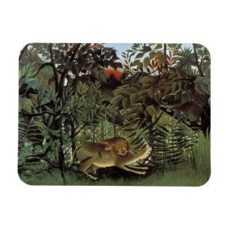Ímã Henri Rousseau - o ataque com fome do leão