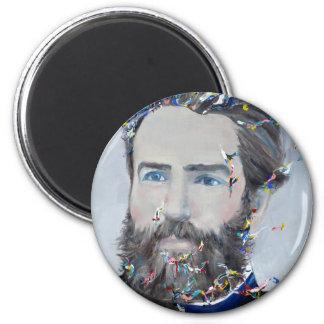 Imã Herman Melville - retrato do óleo