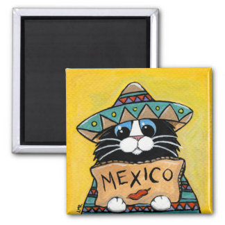 Imã Hitchhiker lunático do mexicano do gato do smoking