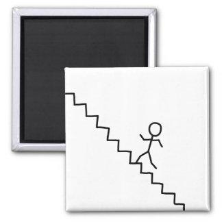 Imã Homem da vara que vai acima o ímã das escadas