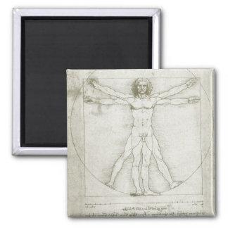 Imã Homem de Vitruvian por Leonardo da Vinci