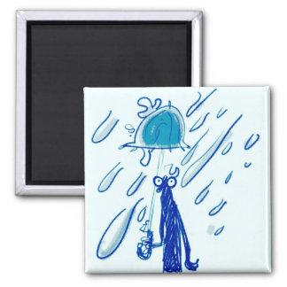 Imã homem gigante das gotas e do esboço da chuva com