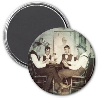 Imã Homens 1890 do jogo de póquer que jogam a foto da