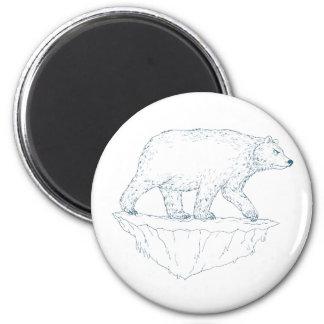 Imã Iceberg de passeio Ukiyo-e do urso polar