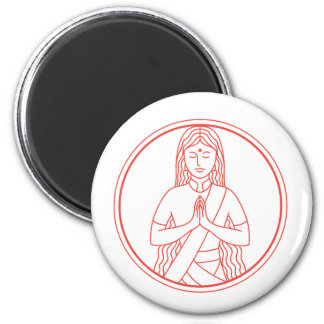 Imã Ícone de Namaste
