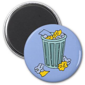 Imã Ícone do balde do lixo