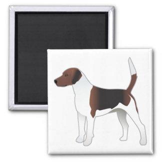 Imã Ilustração básica do cão de cão da raça do Harrier