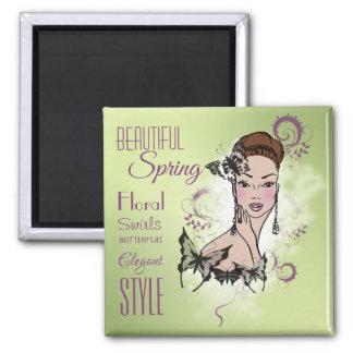 Imã Ilustração bonita da forma do primavera