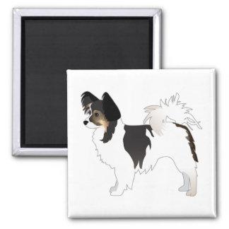 Imã ilustração da raça do cão de brinquedo de Papillon