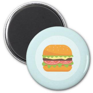Imã Ilustração do Hamburger com tomate e alface