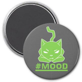 Imã Ilustração do logotipo do limão do gato do #MOOD