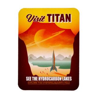 Ímã Ilustração do viagem do titã da lua de Saturn da