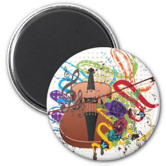 Imã Ilustração do violino do Grunge