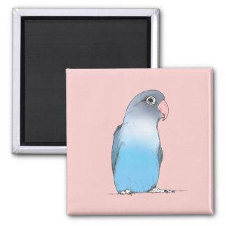 Imã Ilustração original bonito fêmea do Lovebird