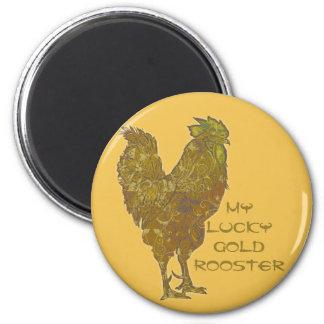 Imã Ímã afortunado do galo   do ouro