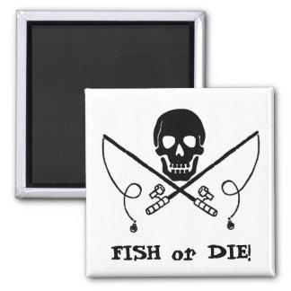 Imã Ímã alegre da pesca de Roger do pirata