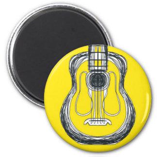 Imã Ímã amarelo da cara do monstro da guitarra