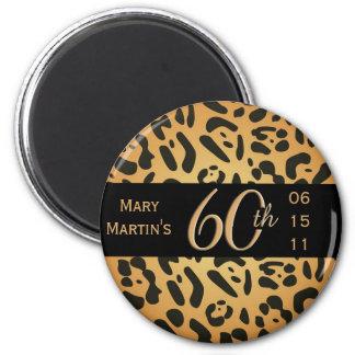 Imã Ímã animal do impressão - 60th aniversário