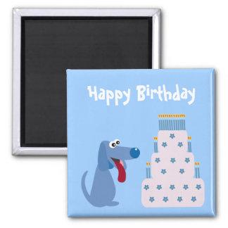 Imã Ímã azul bonito do cão dos desenhos animados & do