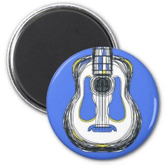 Imã Ímã azul da cara do monstro da guitarra