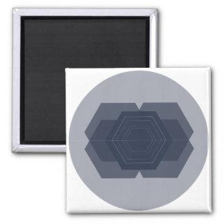 Imã Ímã azul geométrico