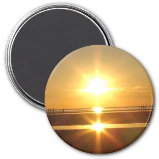 Imã Ímã bonito da foto do por do sol do oceano de Cape