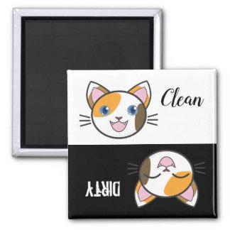 Imã Ímã bonito da máquina de lavar louça do gatinho