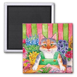 Imã Ímã bonito do gatinho do gato do florista da urze