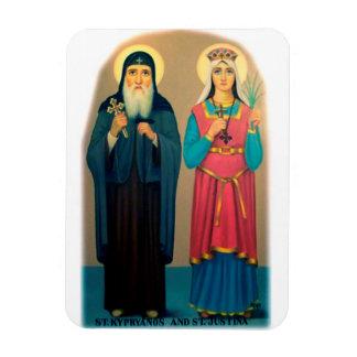 Ímã Imã brilhante de São Cipriano e Santa Justina