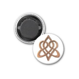 Imã Ímã celta estilizado do nó de amor do coração