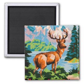 Imã Ímã cénico dos cervos da tapeçaria do vintage