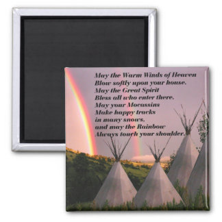 Imã Ímã Cherokee da oração da bênção