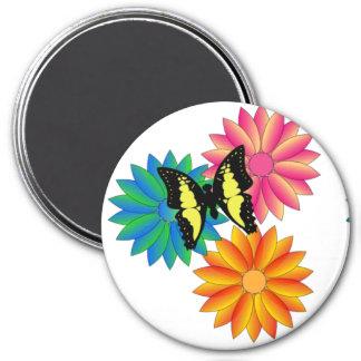 Imã Ímã colorido corajoso brilhante das flores de