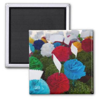 Imã Ímã colorido da foto das flores de papel da