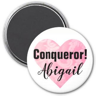 Imã Ímã cor-de-rosa do conquistador do coração,