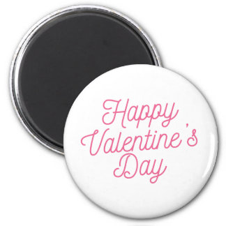 Imã Ímã cor-de-rosa do feliz dia dos namorados |