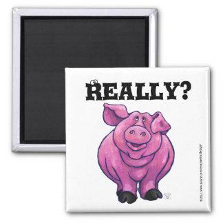 Imã Ímã cor-de-rosa do lembrete da dieta do porco