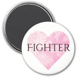 Imã Ímã cor-de-rosa do lutador do coração, redondo