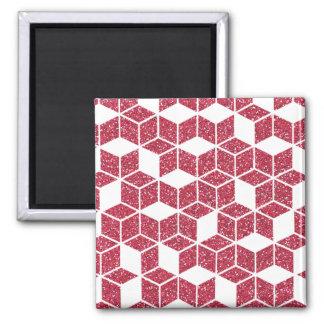 Imã Ímã cor-de-rosa do teste padrão do cubo do brilho
