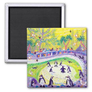 Imã Ímã da arte do refrigerador: Pinguins famélicos
