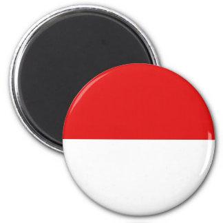Imã Ímã da bandeira de Indonésia Fisheye