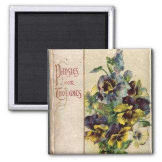 Imã Ímã da capa do livro dos Pansies do Victorian