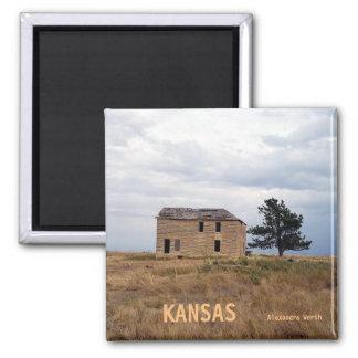 Imã Ímã da casa da fazenda da pedra calcária de Kansas