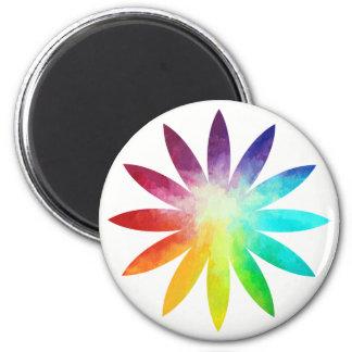 Imã Ímã da flor do arco-íris, ímã do arco-íris