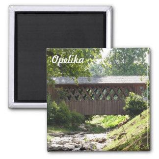Imã Ímã da foto da ponte coberta de Opelika Alabama