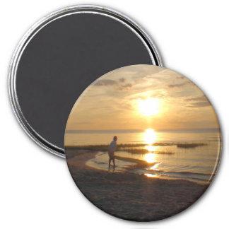 Imã Ímã da foto do por do sol da praia do oceano de