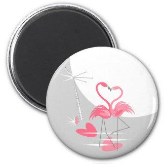 Imã Ímã da lua do amor do flamingo grande redondo