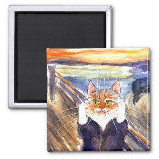Imã Ímã da paródia do gato, o gritar de Edvard Munch