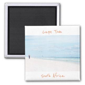 Imã Ímã da praia do oceano de Cape Town África do Sul
