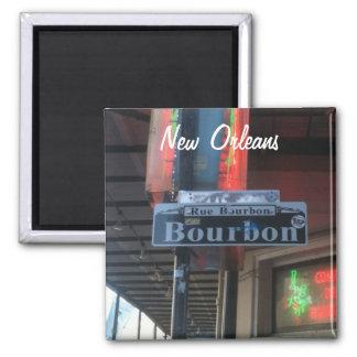 Imã Ímã da rua de Nova Orleães Louisiana Bourbon
